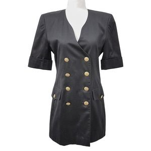 Escada Vintage Short Sleeve Double Breasted Blazer